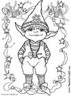 Disegno da colorare piccolo elfo