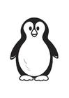 Disegno da colorare pinguino
