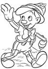 Disegno da colorare Pinocchio