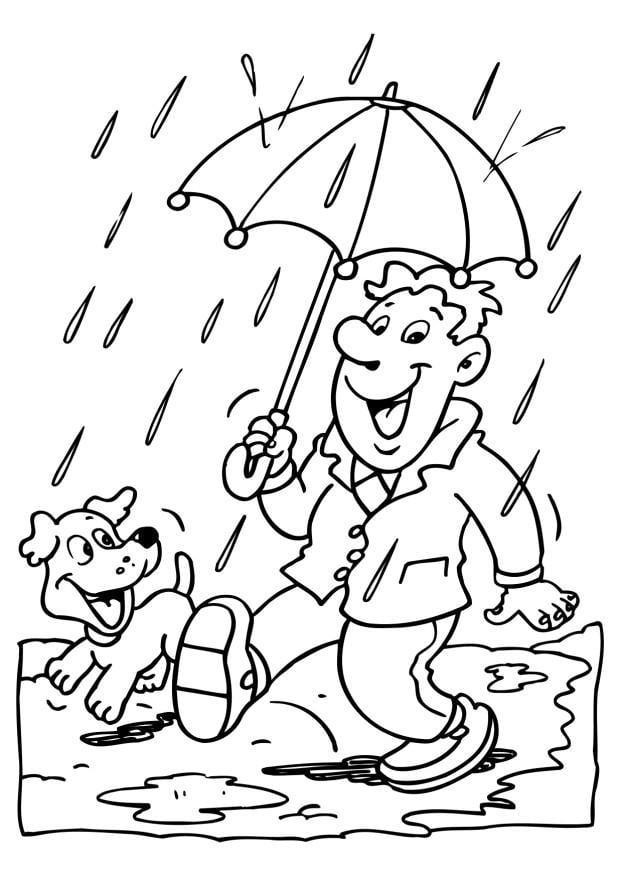 Disegno da colorare pioggia - Cat. 6539. Images