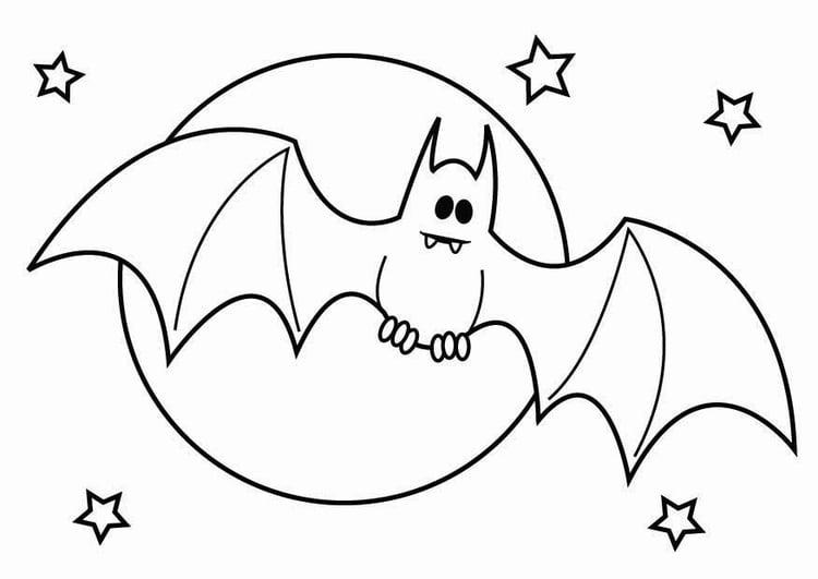 Disegni Da Colorare Pipistrelli.Disegno Da Colorare Pipistrello Di Halloween Disegni Da Colorare E Stampare Gratis
