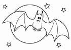 Disegno da colorare pipistrello di Halloween