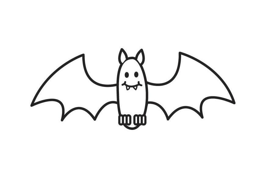 Disegno da colorare pipistrello cat 17640 - Immagini pipistrello da stampare ...
