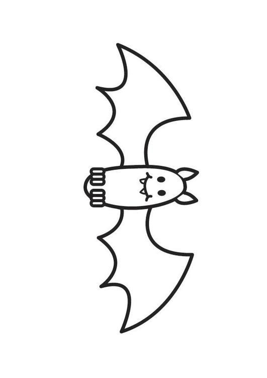 Disegno da colorare pipistrello cat 17924 - Immagini pipistrello da stampare ...