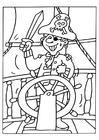Disegno da colorare pirata 2