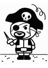 Disegno da colorare pirata di carnevale