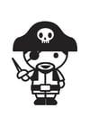 Disegno da colorare pirata
