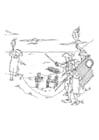 Disegno da colorare piratai catturati dalla guardia costiera
