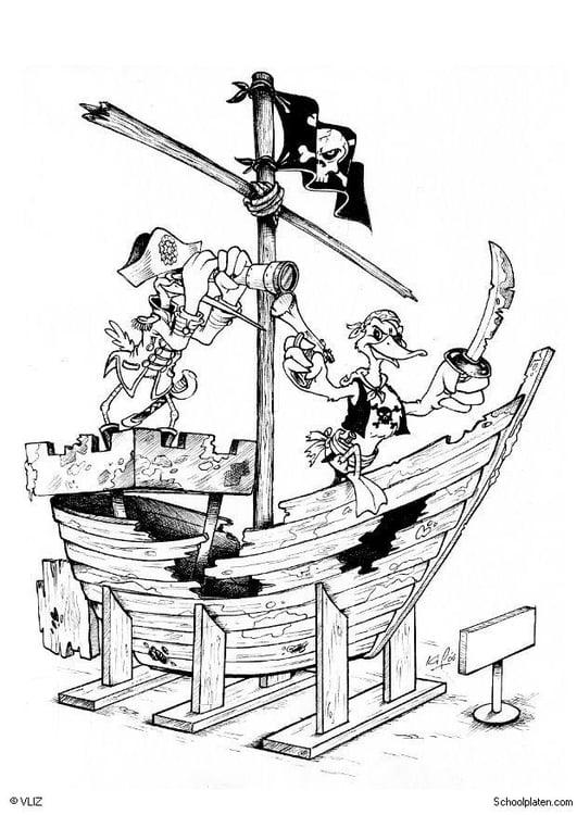 Disegno da colorare pirati nave pirata cat 5496 - Pirata immagini da colorare i pirati ...