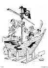 Disegno da colorare pirati - nave pirata