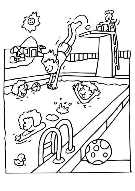 Favoloso Disegno da colorare piscina - Cat. 6573. VD04