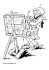 Disegno da colorare pittore