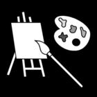 Disegno da colorare pittura