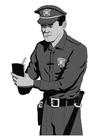 Disegno da colorare polizia
