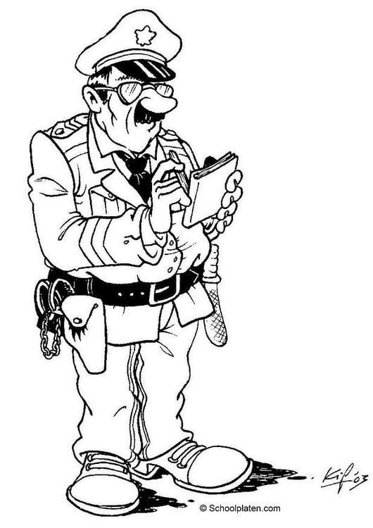 Disegno da colorare poliziotto cat 3608 - Disegno finestra da colorare ...