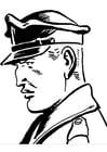 Disegno da colorare poliziotto