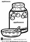 Disegno da colorare polpa di mele
