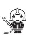 Disegno da colorare pompiere