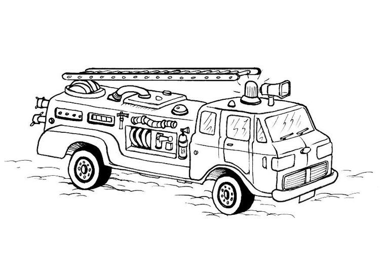 disegno da colorare pompieri