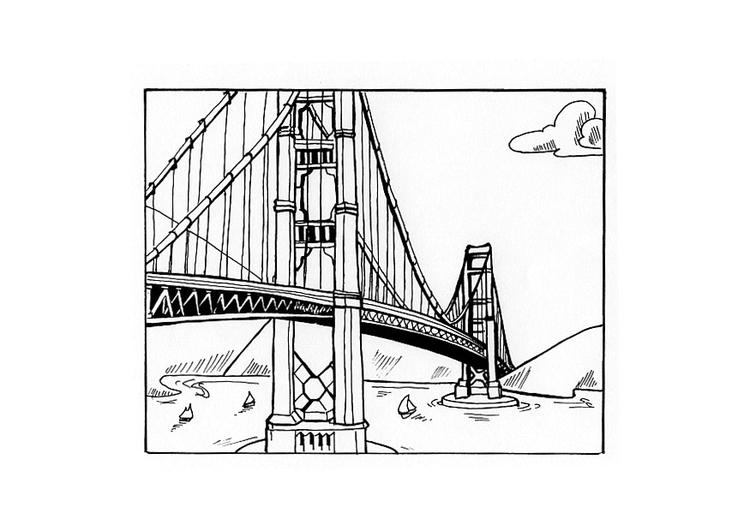 Disegno da colorare ponte cat 10442 for Disegni di ponte anteriore