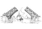 Disegno da colorare ponte - ponte basculante