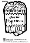 Disegno da colorare popcorn