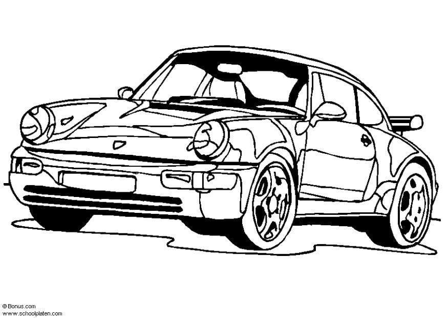 disegno da colorare porsche 911 turbo