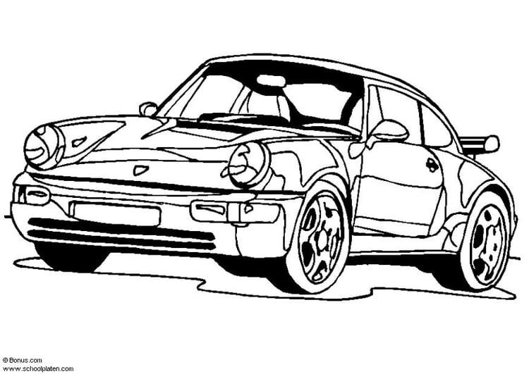 Disegno Da Colorare Porsche 911 Turbo Disegni Da Colorare E