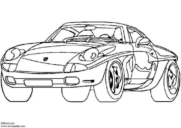Disegno Da Colorare Porsche Prototipo Disegni Da Colorare E