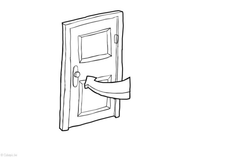 Disegno da colorare porta chiusa risparmio energetico - Porta da colorare ...