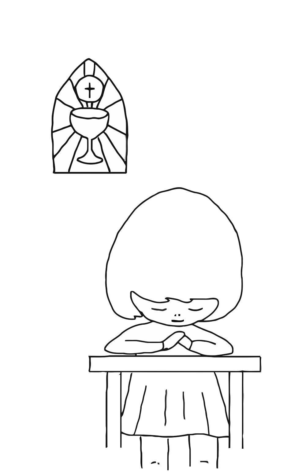 Disegno Da Colorare Pregare Cat 21683