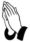 Disegno da colorare pregare
