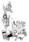 Disegno da colorare prete che predica