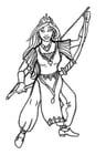 Disegno da colorare principessa degli archi