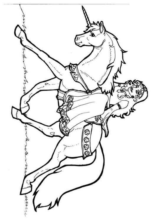 Disegno da colorare principessa di shamrock su unicorno - Shamrock foglio da colorare ...