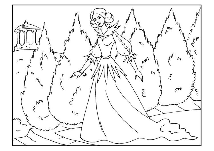Kleurplaten Prinsessen Kasteel Disegno Da Colorare Principessa Cat 22651