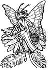 Disegno da colorare principessa Mariposa