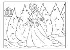 Disegno da colorare principessa