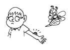Disegno da colorare puntura di un ape