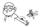 Disegno da colorare puntura di zanzara
