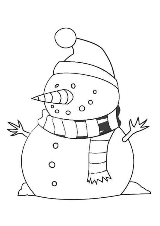 Disegno Da Colorare Pupazzo Di Neve Disegni Da Colorare E