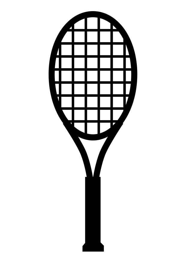 Disegno da colorare racchetta da tennis cat 17413 - Raquette dessin ...