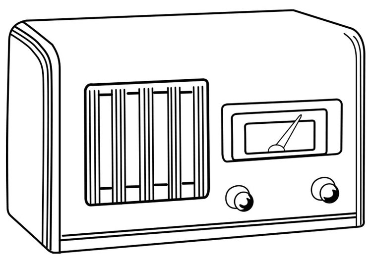 disegno da colorare radio spenta  cat 28385