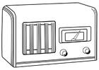 Disegno da colorare radio spenta