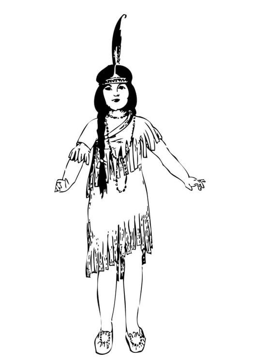 disegno da colorare ragazza indiana  disegni da colorare