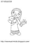 Disegno da colorare ragazza musulmana