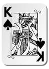 Disegno da colorare Re di Spade