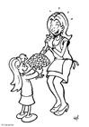 Disegno da colorare regale festa della mamma