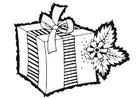 Disegno da colorare regalo di Natale