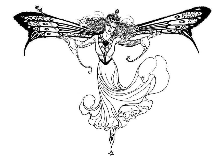 Disegno Da Colorare Regina Degli Elfi Cat 11219 Images